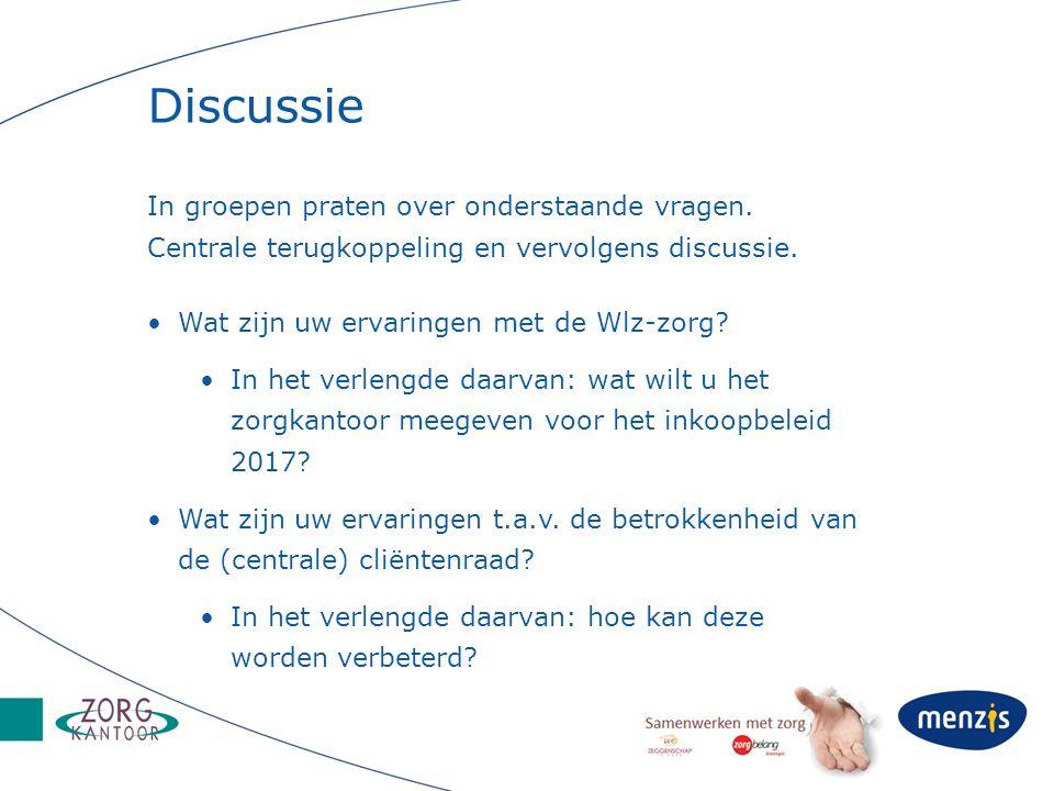 Discussie In groepen praten over onderstaande vragen. Centrale terugkoppeling en vervolgens discussie.