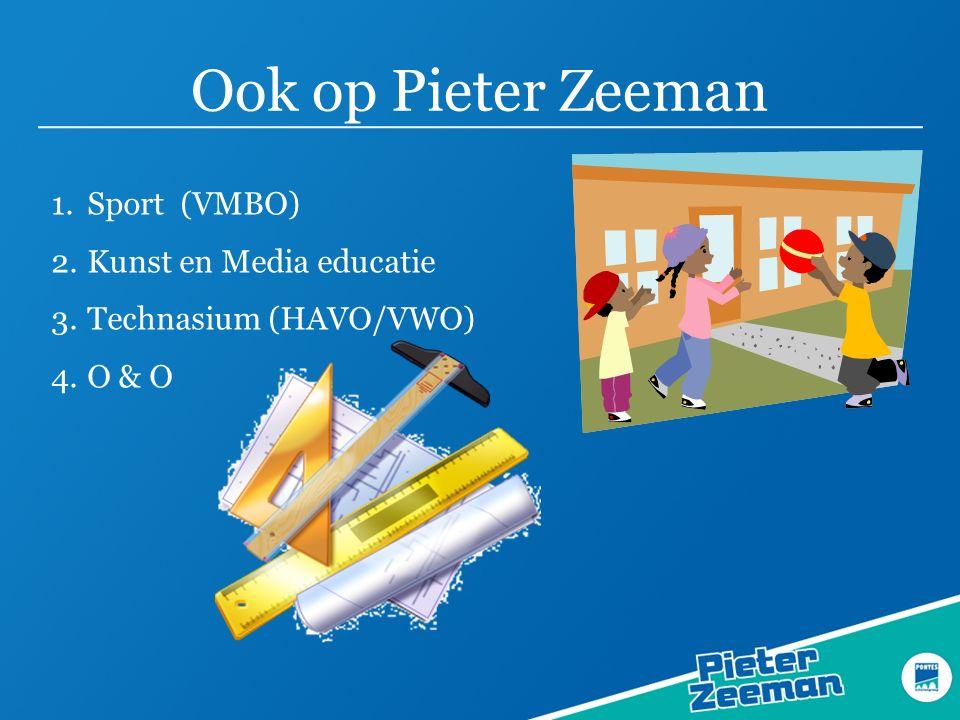 Ook op Pieter Zeeman Sport (VMBO) Kunst en Media educatie