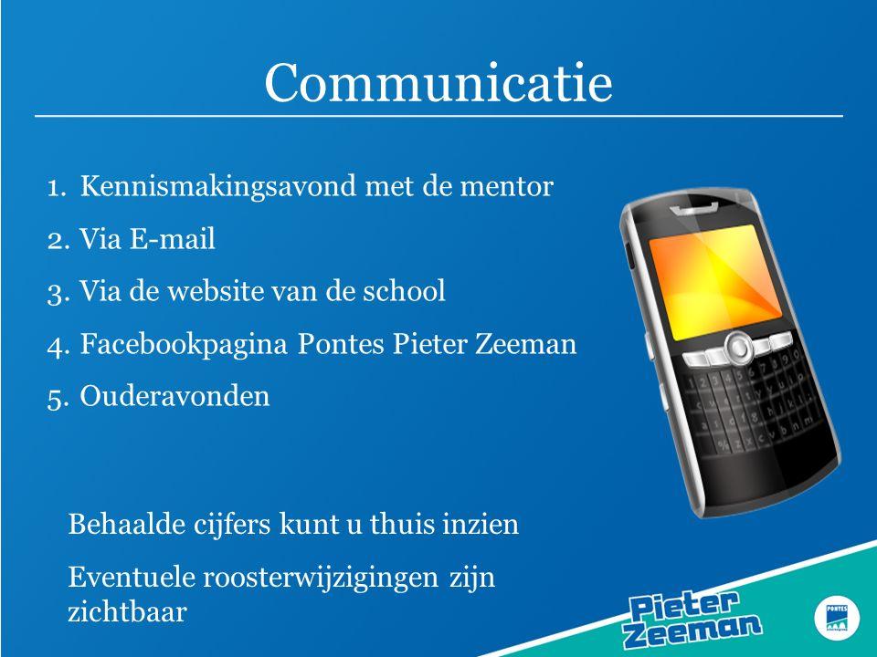 Communicatie Kennismakingsavond met de mentor Via E-mail