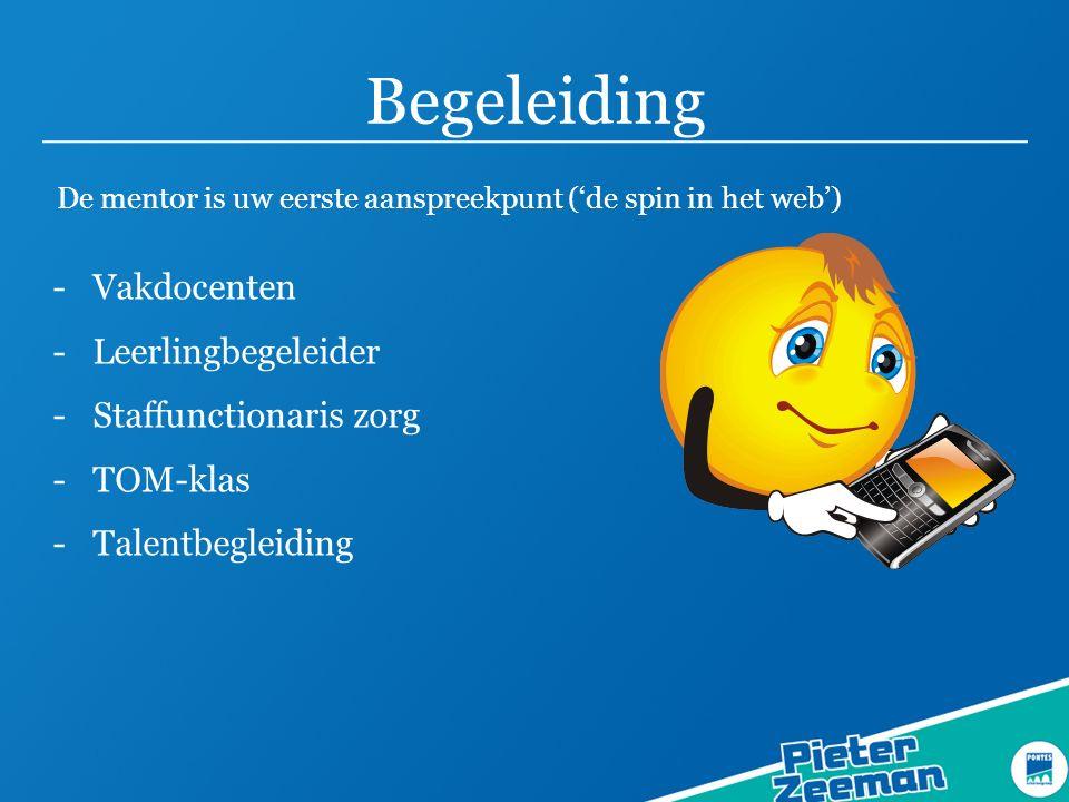 Begeleiding Vakdocenten Leerlingbegeleider Staffunctionaris zorg