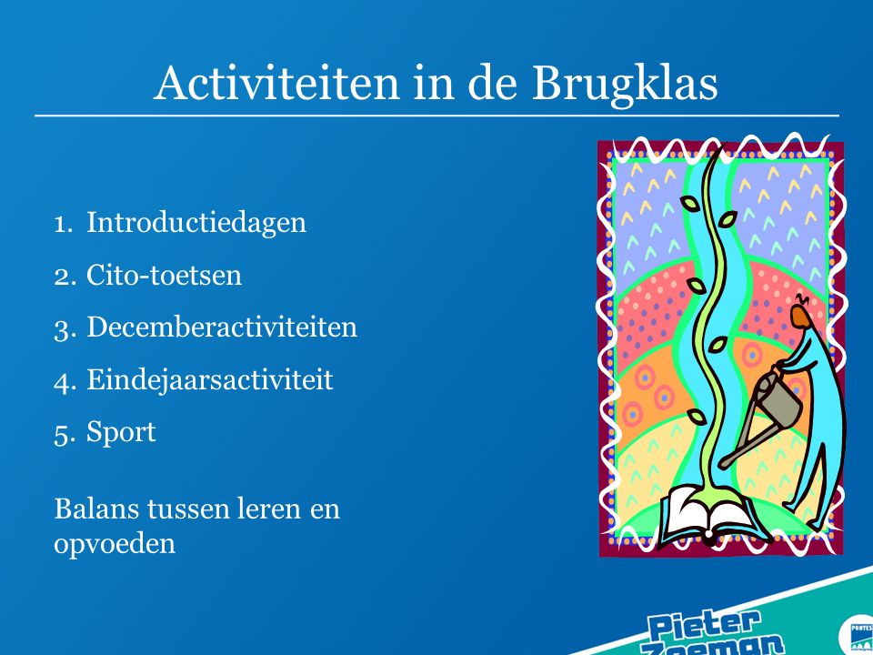 Activiteiten in de Brugklas