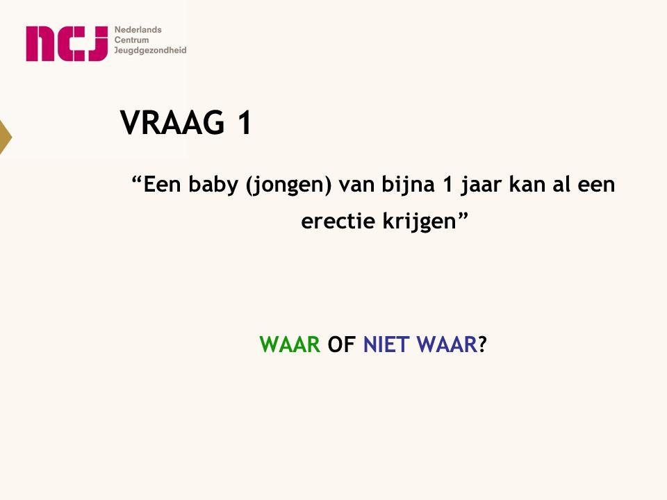 Een baby (jongen) van bijna 1 jaar kan al een erectie krijgen