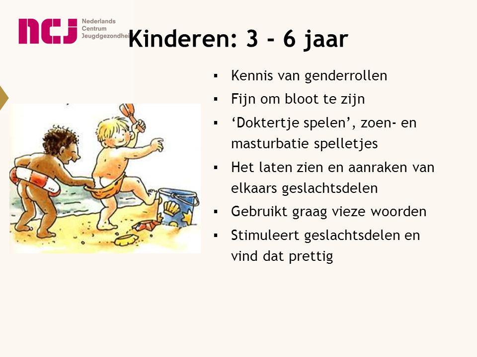 Kinderen: 3 - 6 jaar Kennis van genderrollen Fijn om bloot te zijn