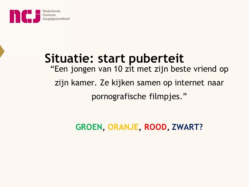 Situatie: start puberteit