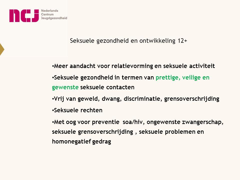 Seksuele gezondheid en ontwikkeling 12+