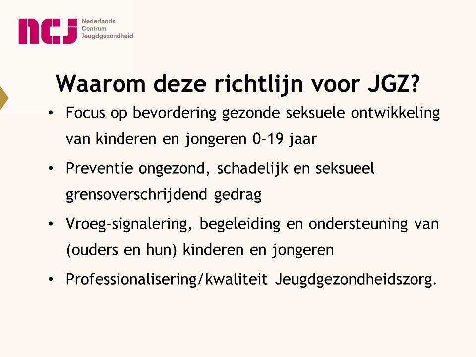 Waarom deze richtlijn voor JGZ