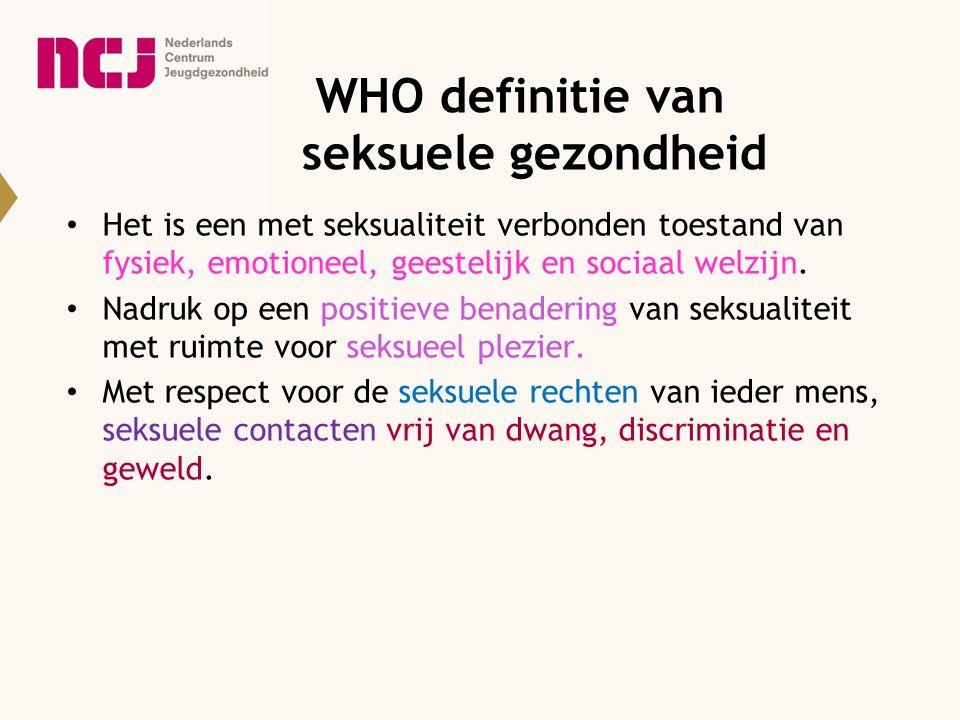 WHO definitie van seksuele gezondheid
