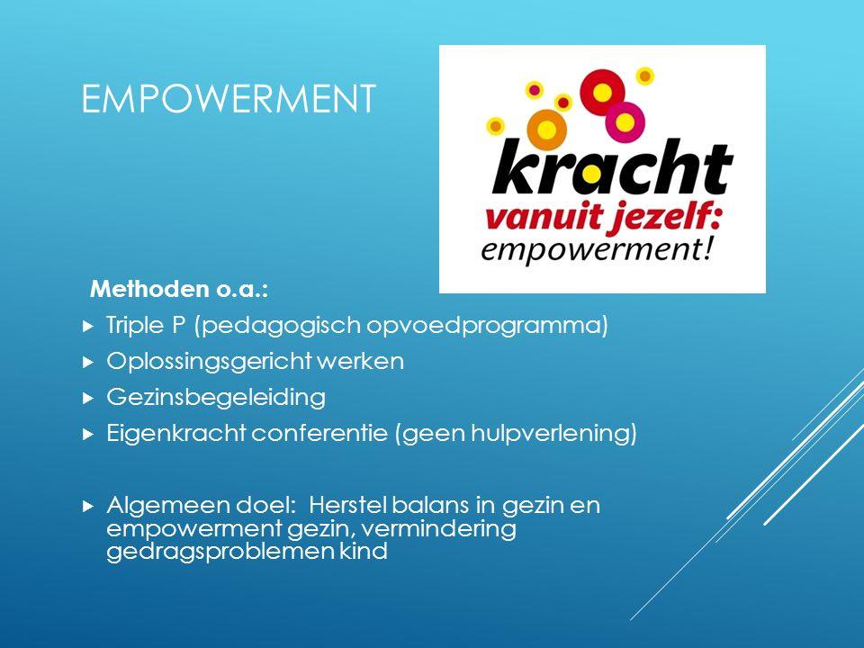 Empowerment Methoden o.a.: Triple P (pedagogisch opvoedprogramma)