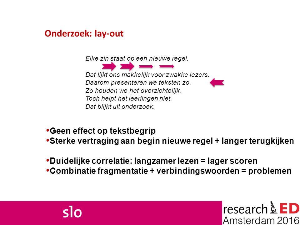 Onderzoek: lay-out Geen effect op tekstbegrip