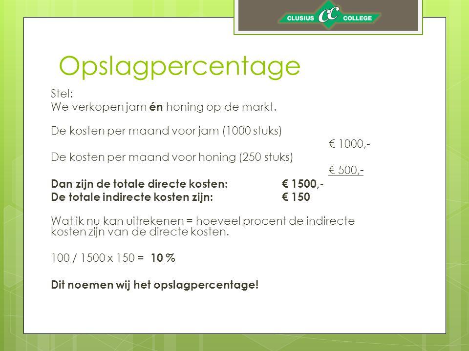 Opslagpercentage