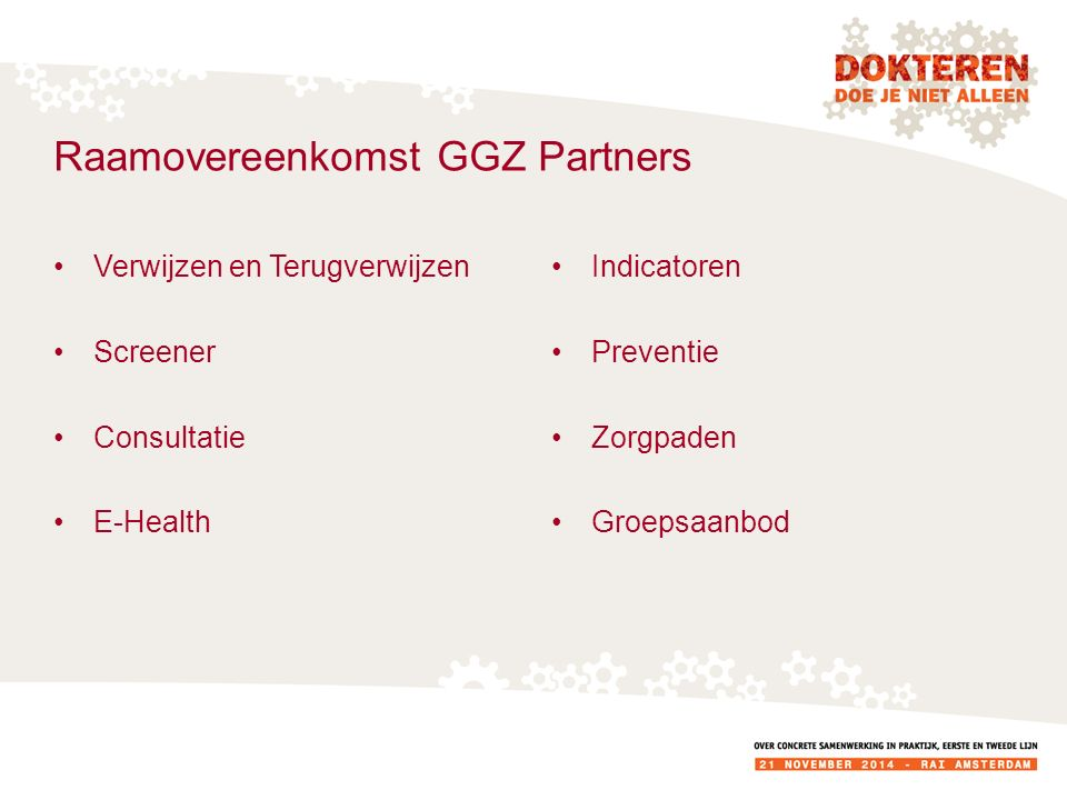 Raamovereenkomst GGZ Partners
