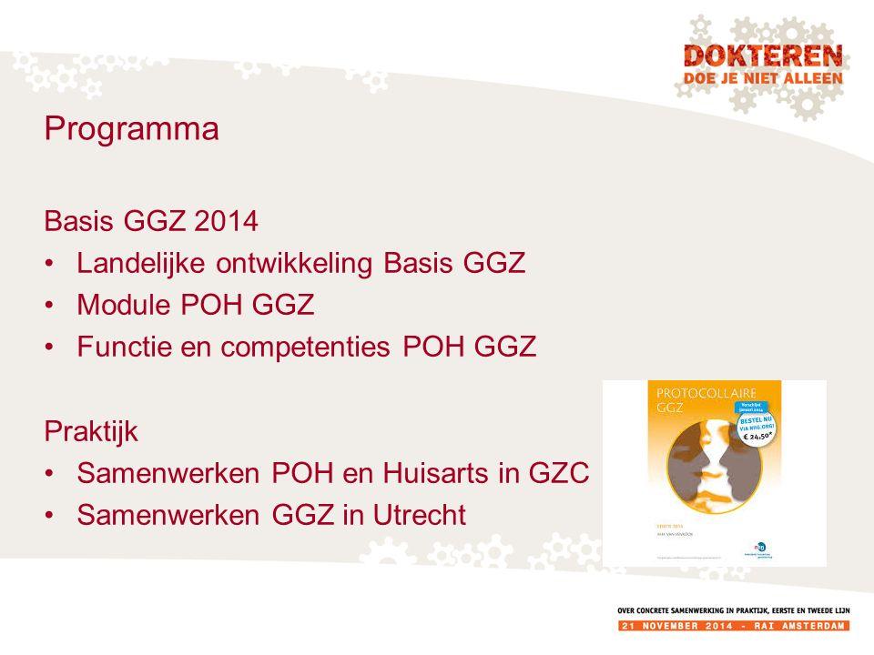 Programma Basis GGZ 2014 Landelijke ontwikkeling Basis GGZ