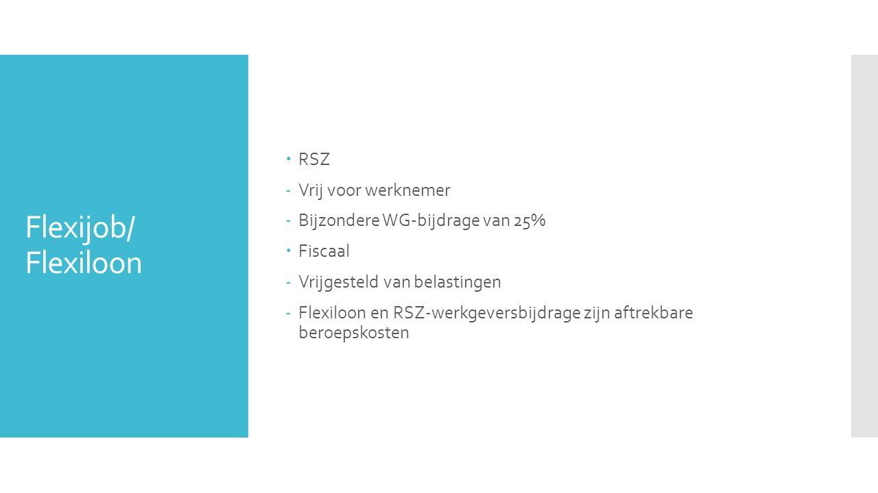 Flexijob/ Flexiloon RSZ Vrij voor werknemer