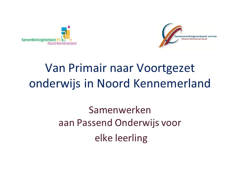 Van Primair naar Voortgezet onderwijs in Noord Kennemerland
