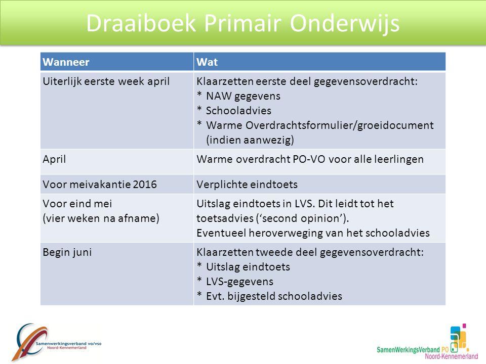 Draaiboek Primair Onderwijs