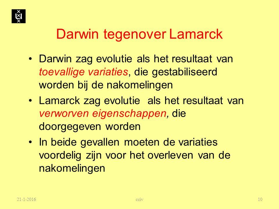 Darwin tegenover Lamarck