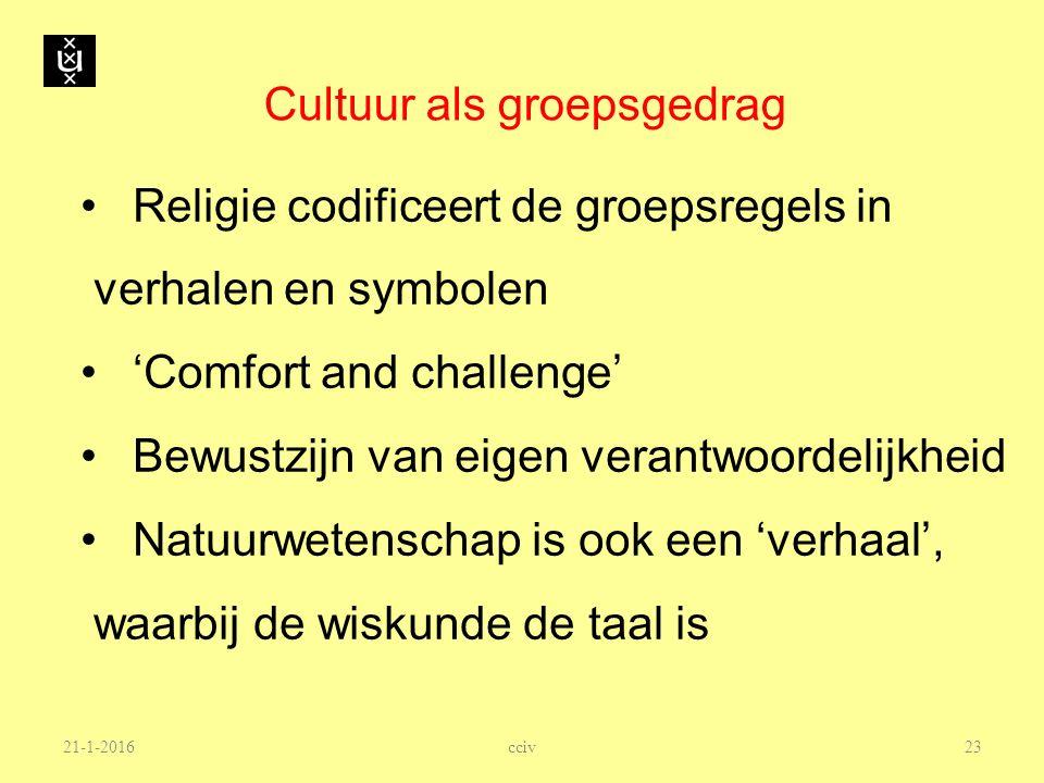 Cultuur als groepsgedrag