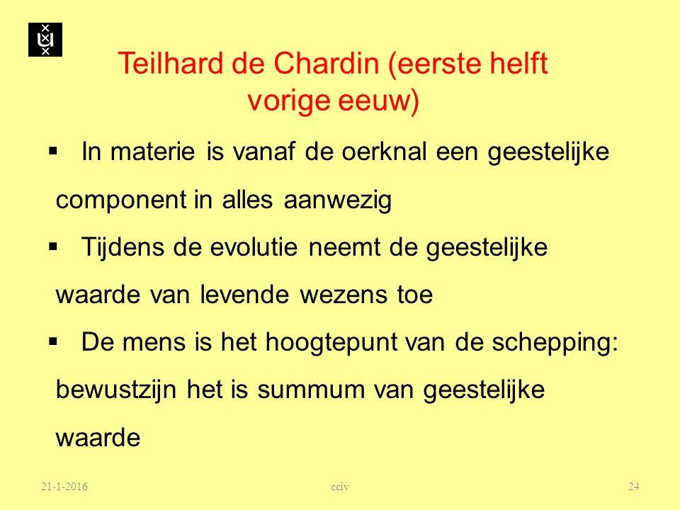 Teilhard de Chardin (eerste helft vorige eeuw)