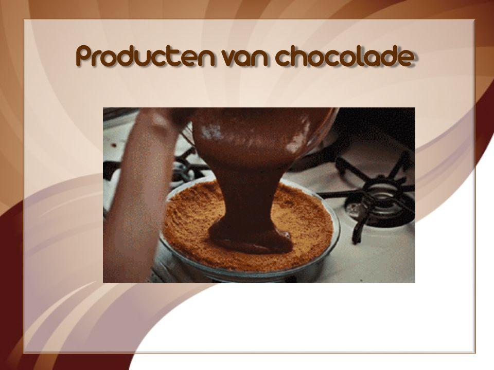 Producten van chocolade
