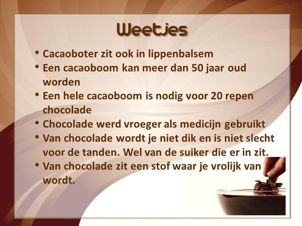 Weetjes Cacaoboter zit ook in lippenbalsem