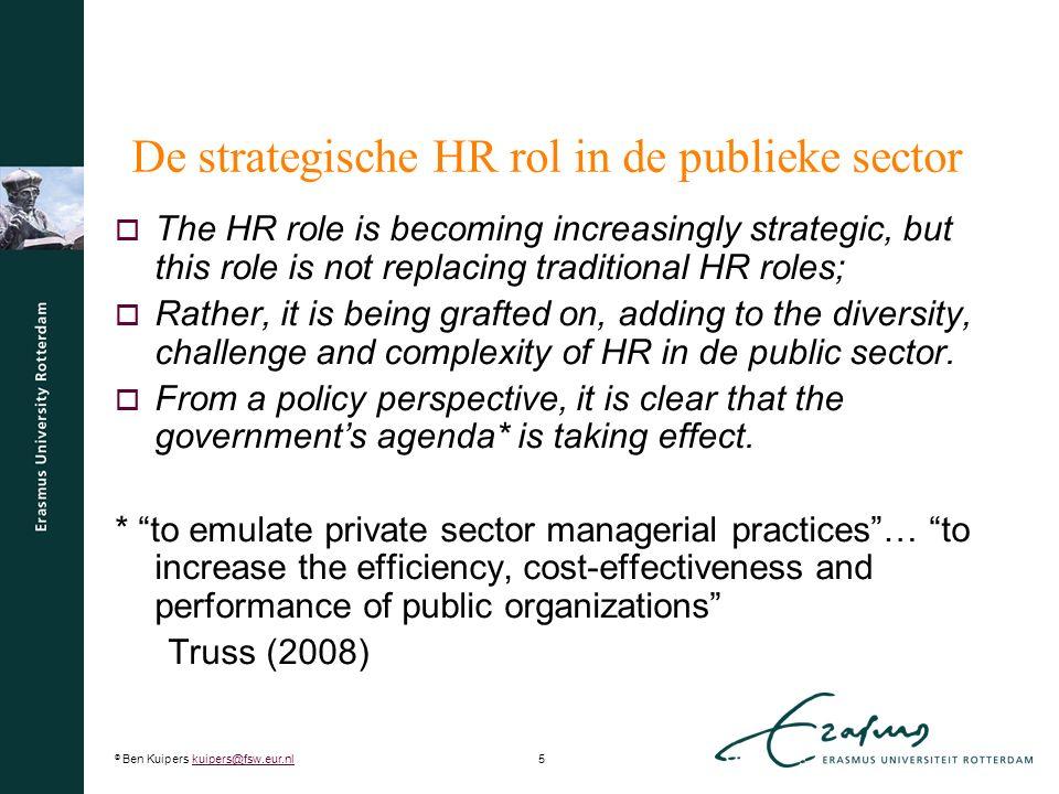 De strategische HR rol in de publieke sector