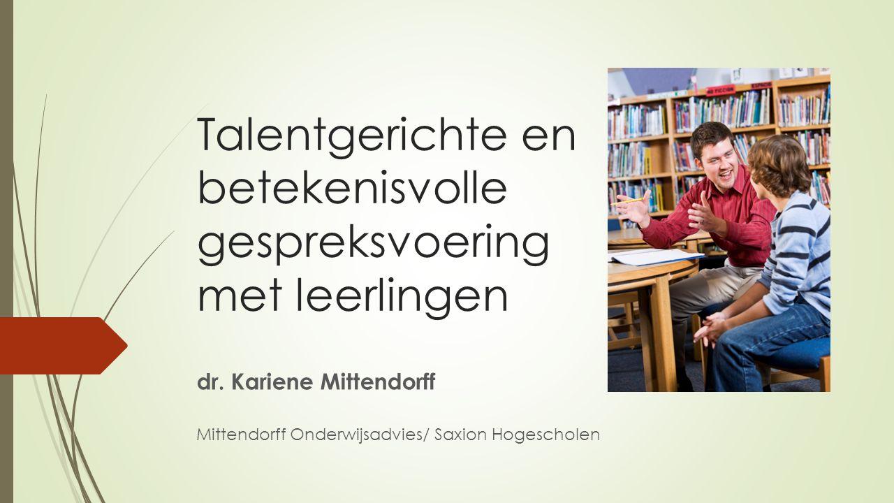 Talentgerichte en betekenisvolle gespreksvoering met leerlingen