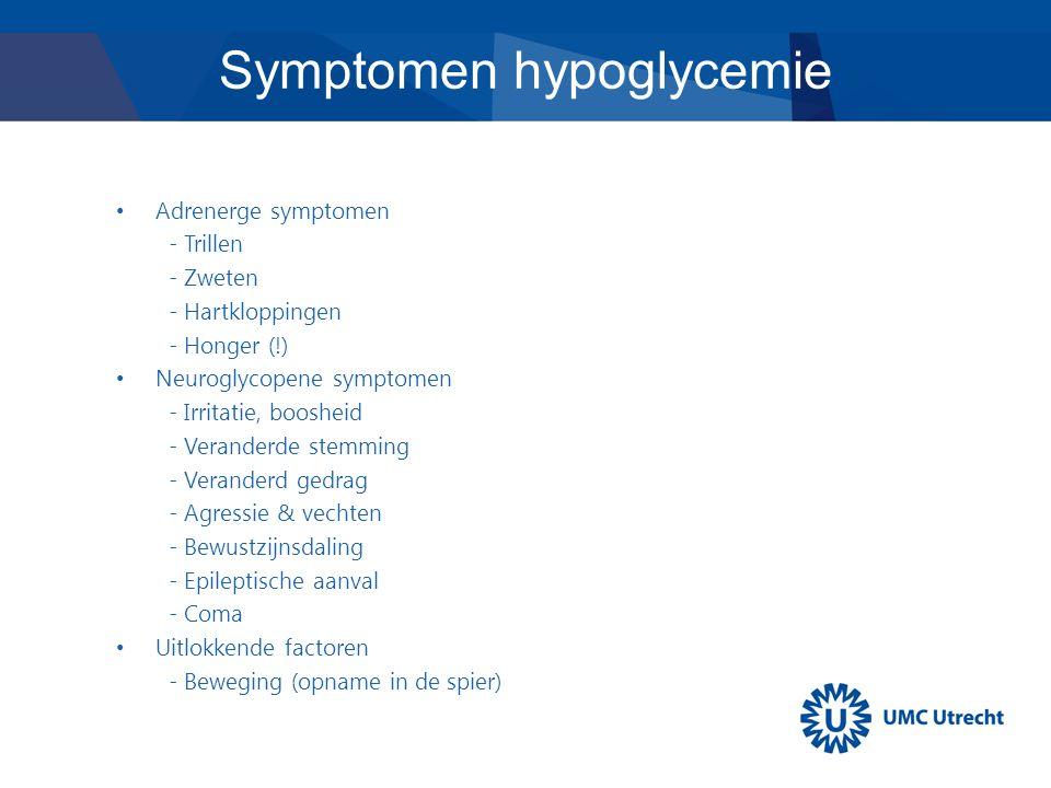 Symptomen hypoglycemie