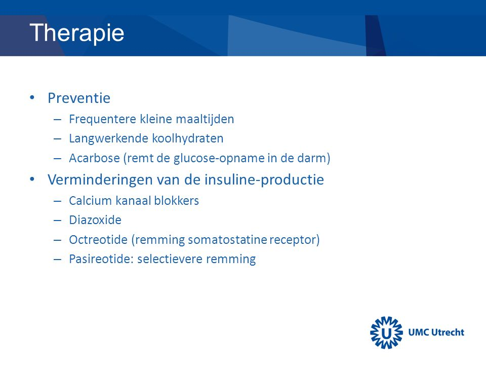Therapie Preventie Verminderingen van de insuline-productie