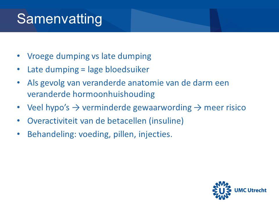 Samenvatting Vroege dumping vs late dumping