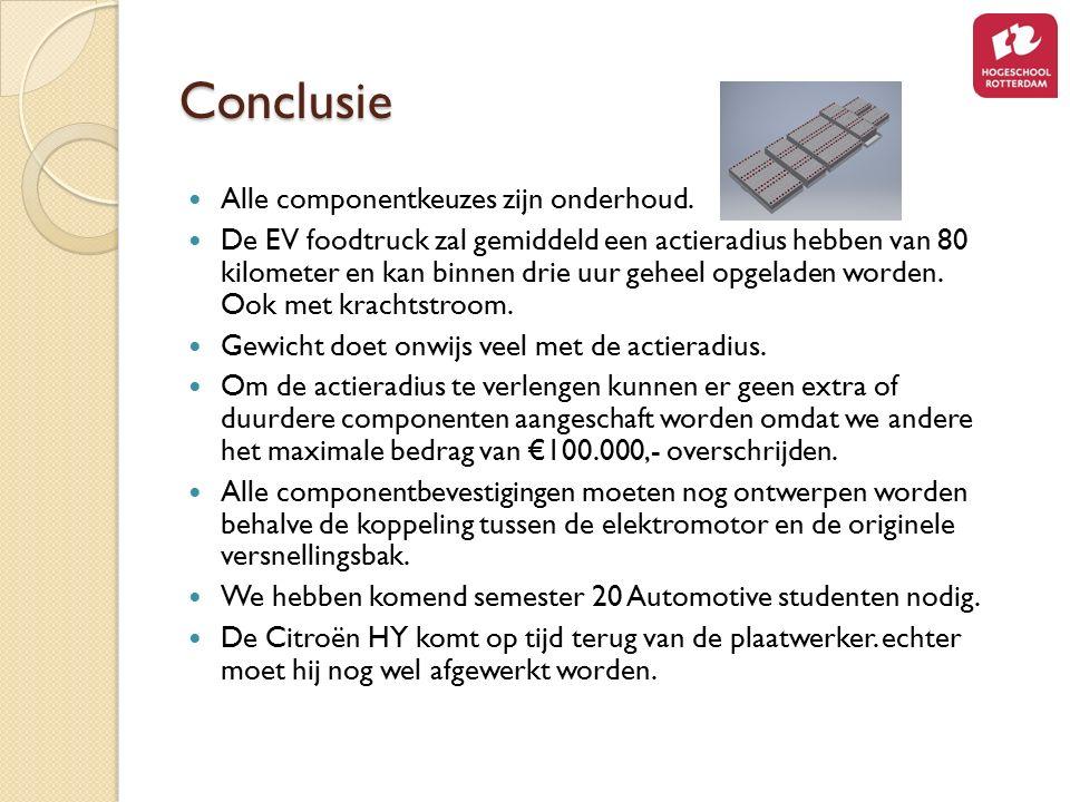 Conclusie Alle componentkeuzes zijn onderhoud.