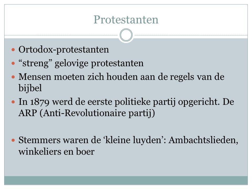Protestanten Ortodox-protestanten streng gelovige protestanten