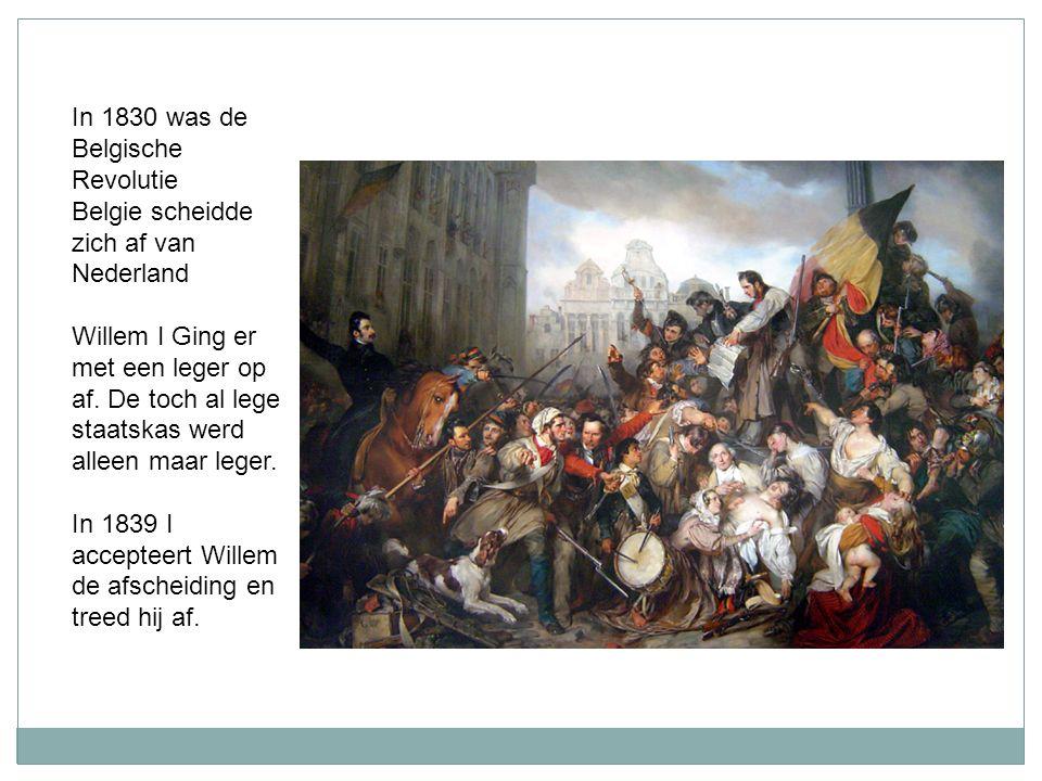 In 1830 was de Belgische Revolutie