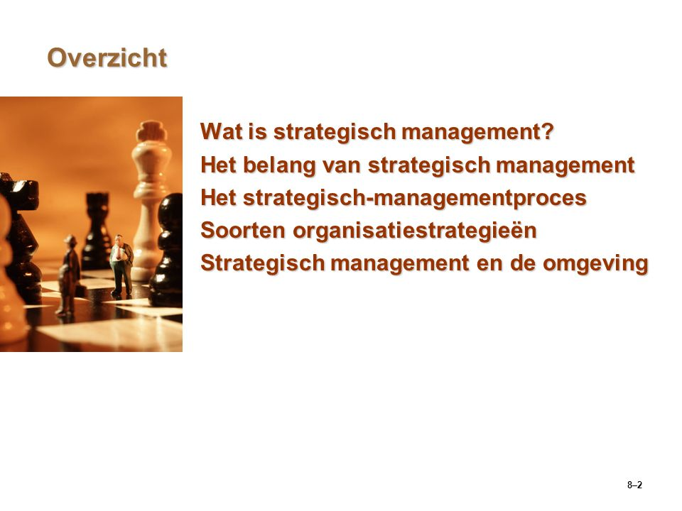 Overzicht Wat is strategisch management