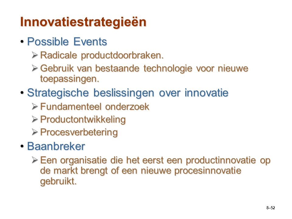 Innovatiestrategieën