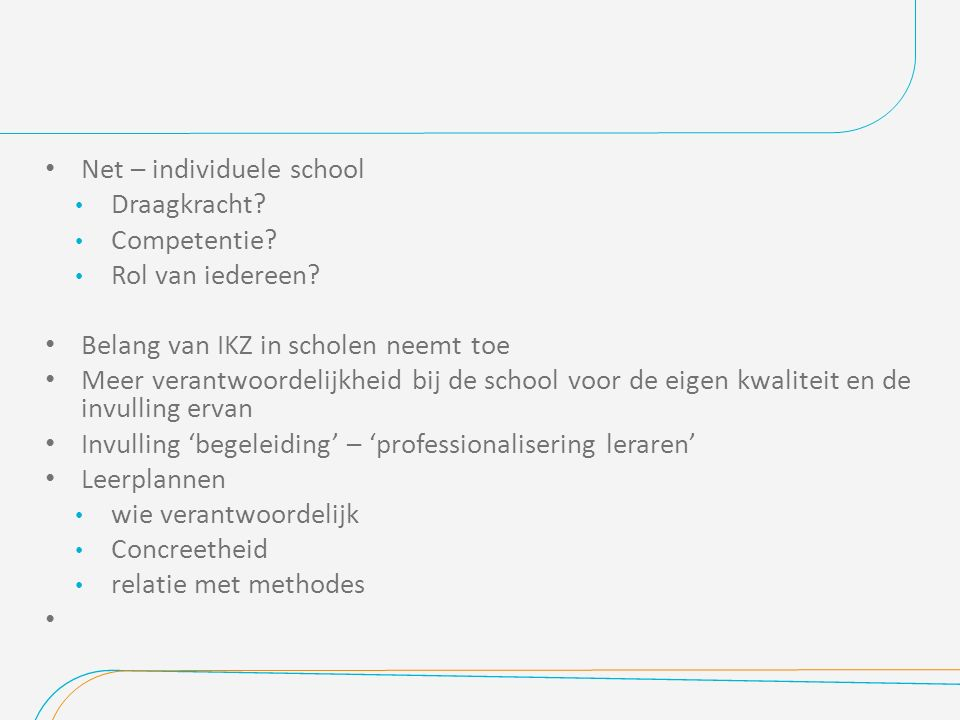 Net – individuele school