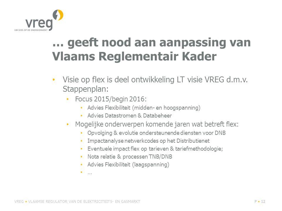 … geeft nood aan aanpassing van Vlaams Reglementair Kader