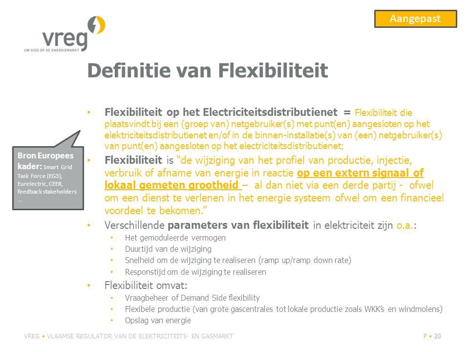 Definitie van Flexibiliteit