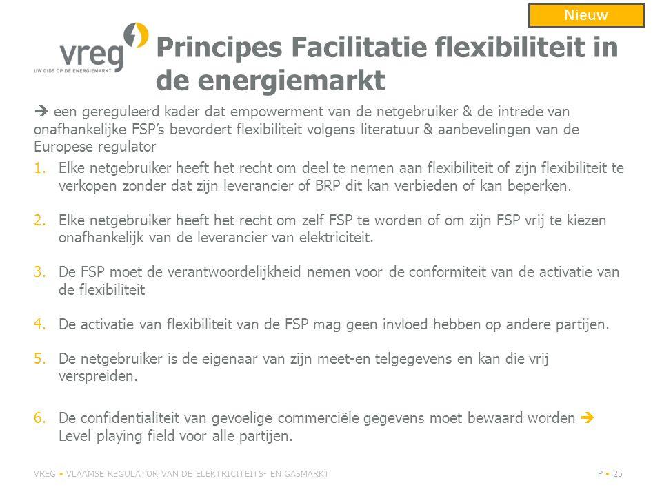 Principes Facilitatie flexibiliteit in de energiemarkt
