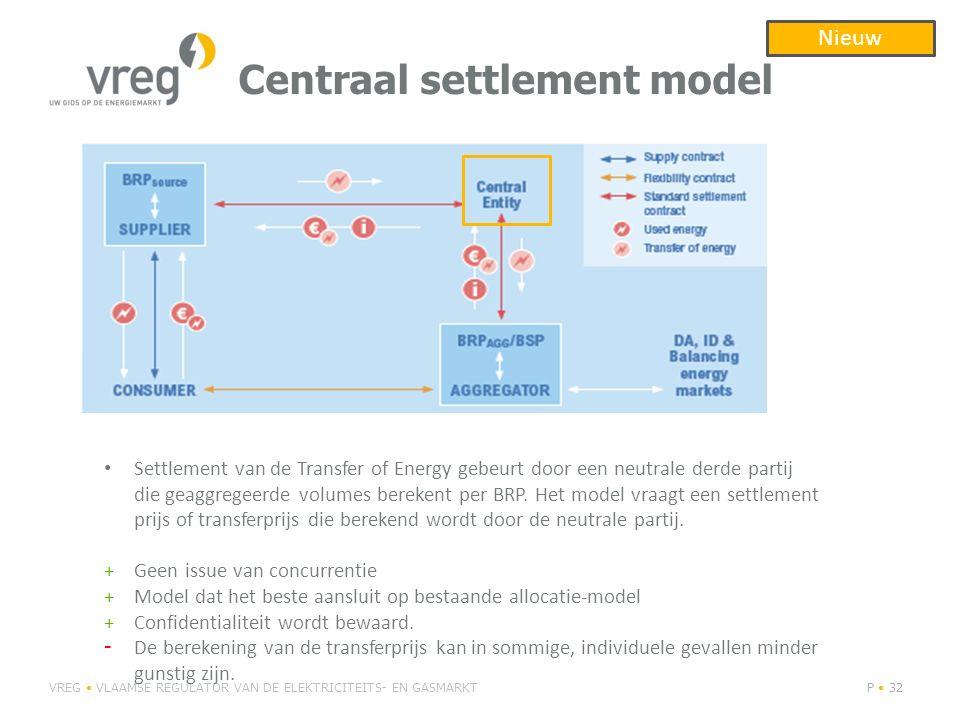 Centraal settlement model