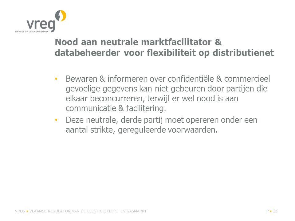 Nood aan neutrale marktfacilitator & databeheerder voor flexibiliteit op distributienet