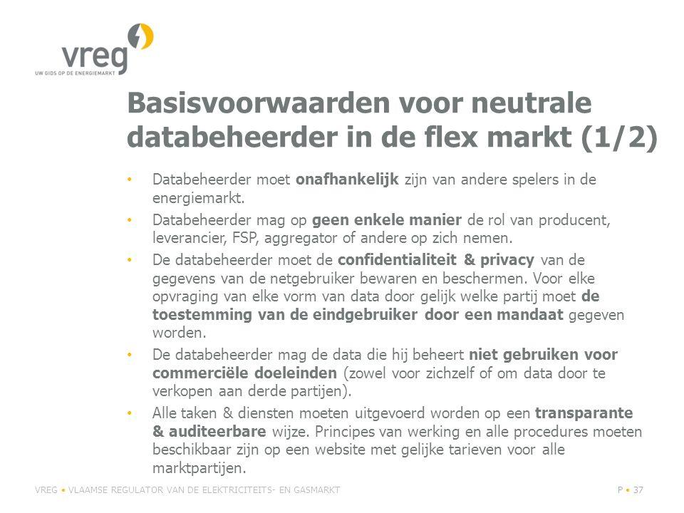 Basisvoorwaarden voor neutrale databeheerder in de flex markt (1/2)