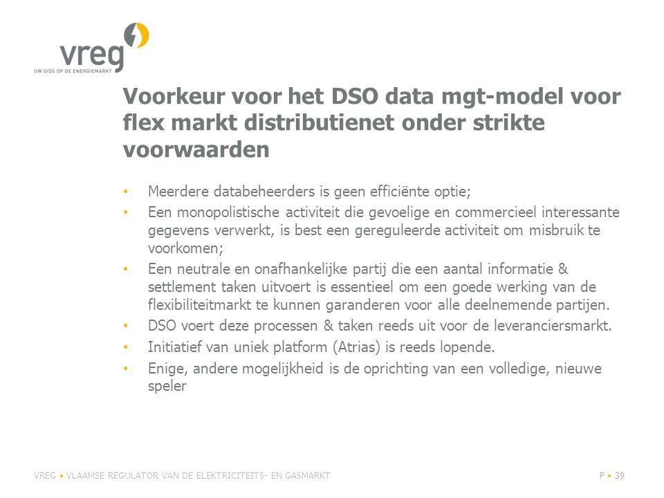 Voorkeur voor het DSO data mgt-model voor flex markt distributienet onder strikte voorwaarden