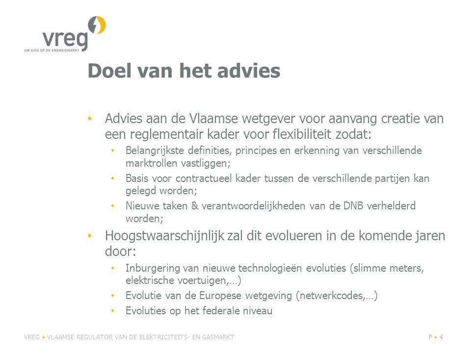 Doel van het advies Advies aan de Vlaamse wetgever voor aanvang creatie van een reglementair kader voor flexibiliteit zodat: