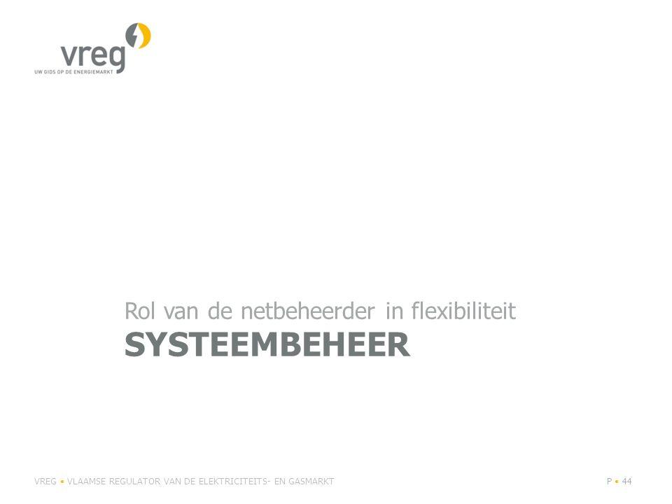 Systeembeheer Rol van de netbeheerder in flexibiliteit