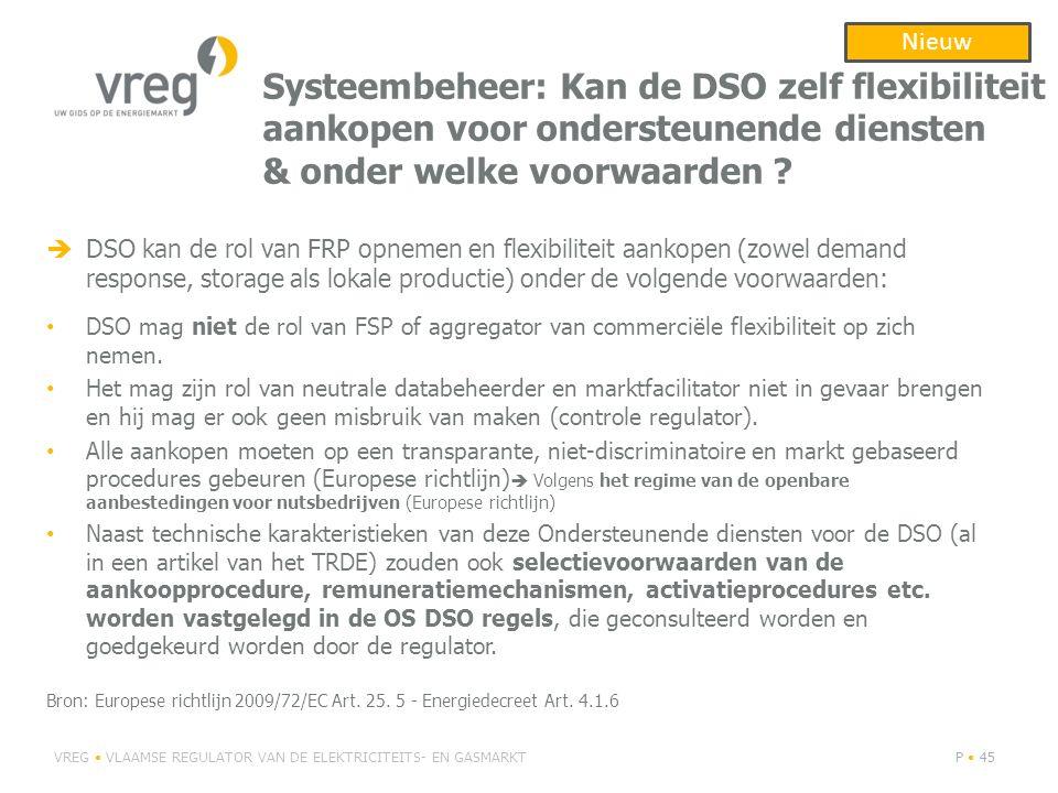 Nieuw Systeembeheer: Kan de DSO zelf flexibiliteit aankopen voor ondersteunende diensten & onder welke voorwaarden