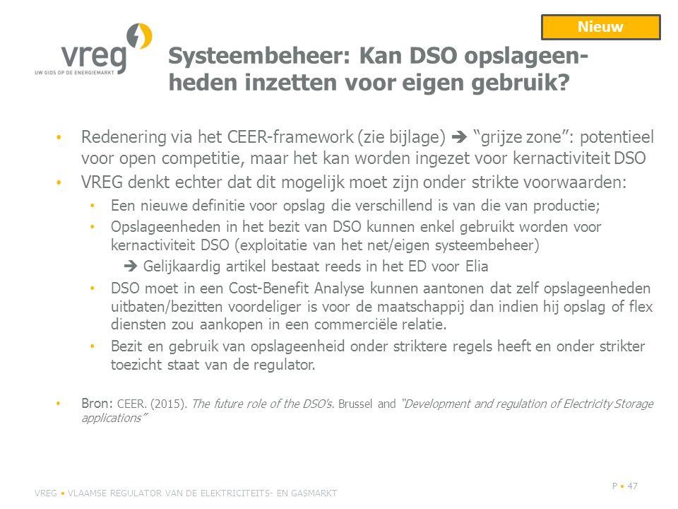 Systeembeheer: Kan DSO opslageen- heden inzetten voor eigen gebruik