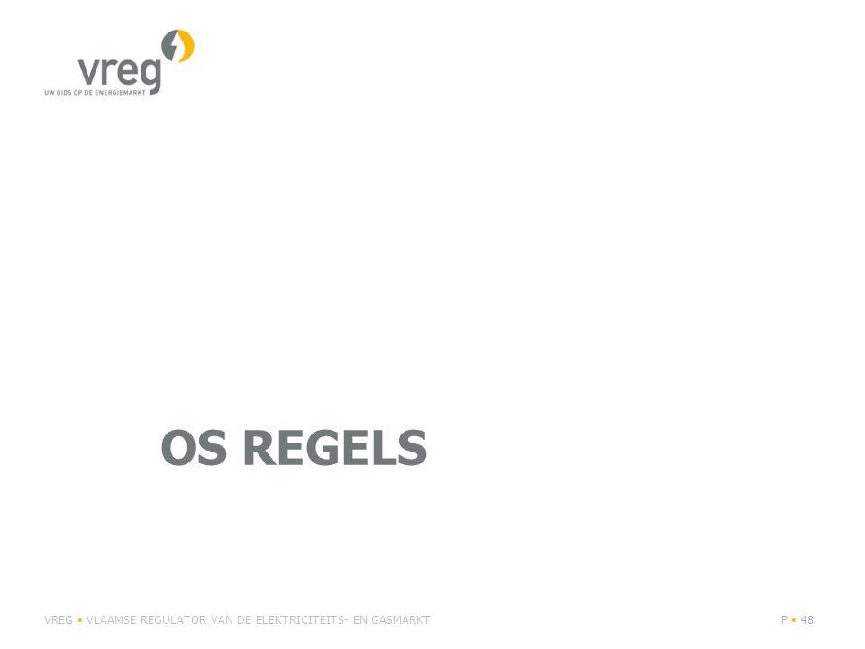 OS Regels VREG • VLAAMSE REGULATOR VAN DE ELEKTRICITEITS- EN GASMARKT