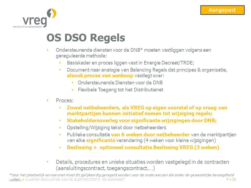 OS DSO Regels Aangepast Proces: