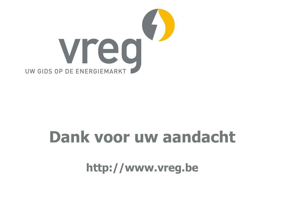 Dank voor uw aandacht http://www.vreg.be