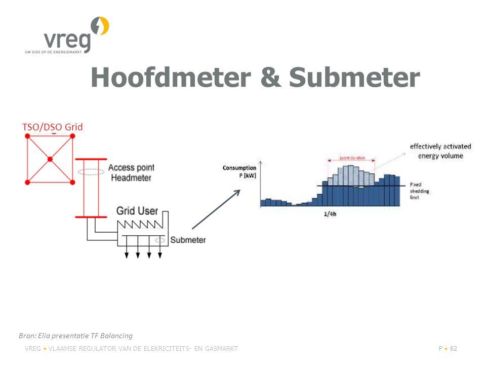 Hoofdmeter & Submeter TSO/DSO Grid Bron: Elia presentatie TF Balancing